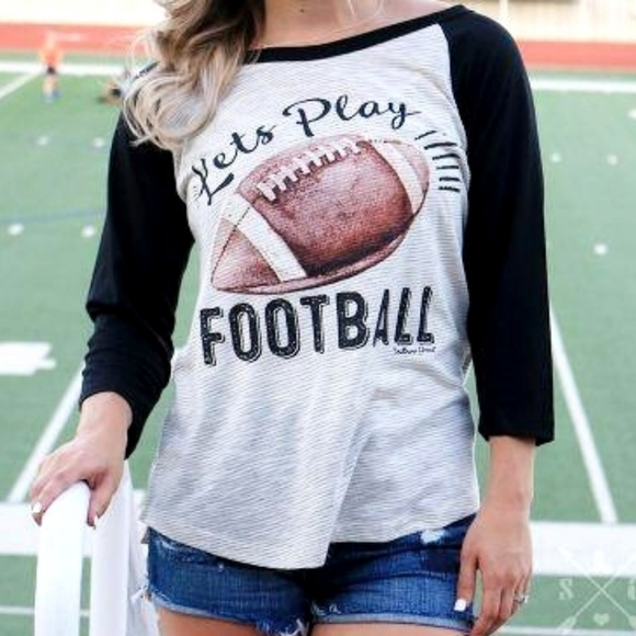 Southern Grace Tops - Southern Grace Football Tee Size Small